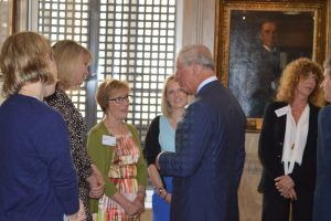 Moira Howie, Manager, Nutrition & Health at Waitrose, with  the Prince of Wales.