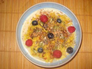 Jewelled porridge - courtesy of Dr Eleni Tsiompanou