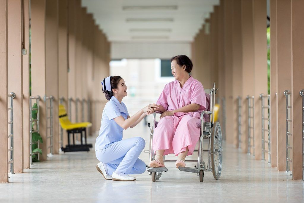 Nurse and patient