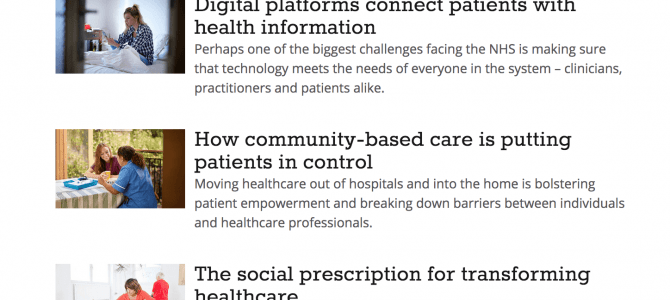 Transforming healthcare – new campaign