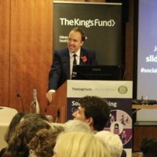 The arts are an 'indispensable tool' in helping the NHS, Matt Hancock tells The King's Fund