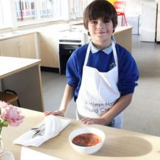 Move over Jamie Oliver! Promising cook, nine, scoops Young Chef award with healthy dish